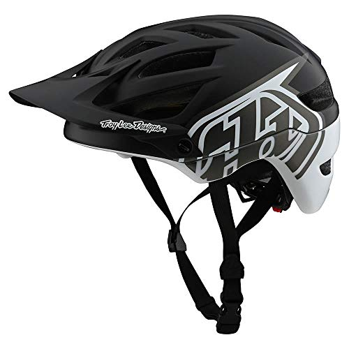 Troy Lee Designs Adult   Trail   All Mountain   Mountain Bike A1 MIPS Classic Helmet (SM, Black/White)