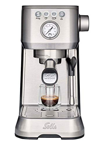 Solis Barista Perfetta Plus 1170 Kaffeemaschine - Espressomaschine mit Dampf- und Heißwasserfunktion - Siebträger Kaffeemaschine - 15 bar - 1.7L Wassertank - Edelstahl