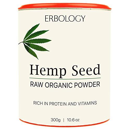 Polvere di Proteine di Canapa Cruda Bio 300g - Ricco di Vitamina D e Minerali
