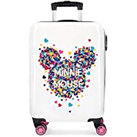Maleta de cabina Minnie Magic corazones rígida 55cm