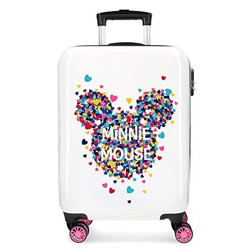 Disney Minnie Magic Maleta de cabina Blanco 37x55x20 cms Rígida ABS Cierre combinación 33L 2,8Kgs 4 Ruedas Dobles Equipaje de Mano