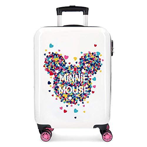 Disney Minnie Magic Maleta de cabina Blanco 37x55x20 cms Rígida ABS Cierre...
