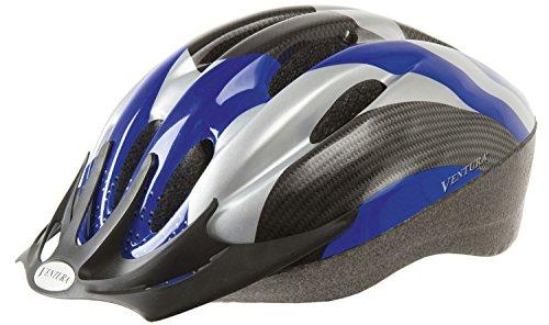 Ventura Fahrradhelm, schwarz/Blau/Carbon, M