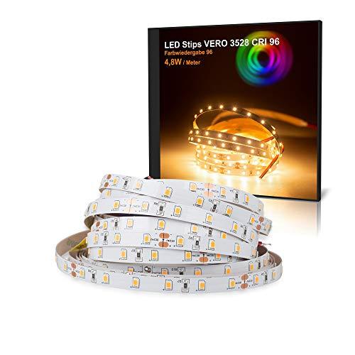 LED Streifen VERO Mextronic LED Streifen LED Band LED Strip VERO Warmweiß (2700K) CRI 96 24W 5 Meter 24V IP20