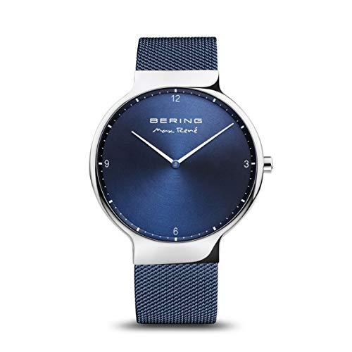 BERING Herren Analog Quarz Uhr mit Edelstahl Armband 15540-307