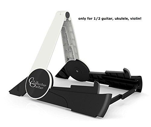 CollectorGuitar TRAVELER XS Universal Gitarrenständer für Ukulele, Violine/Geige, 1/4 und 1/2 Konzertgitarre/Klassikgitarre, 1/4 und 1/2 Akustikgitarre/Westerngitarre, 1/4 und 1/2 E-Gitarre/E-Bass - leicht, stabil, extrem klein faltbar