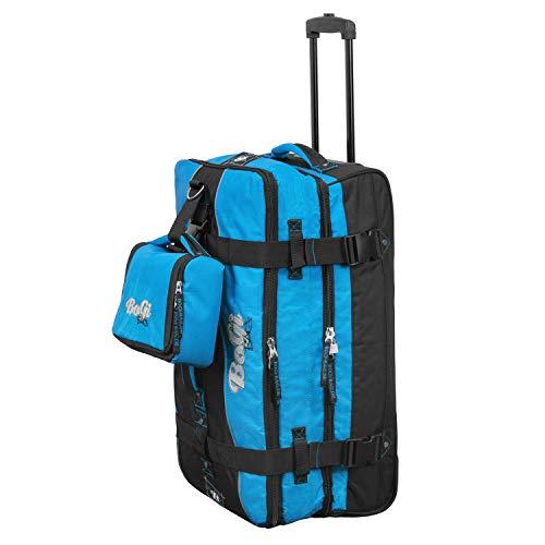 Bogi Bag Set Reisetasche Reise Trolley 85 Liter inkl. Kulturtasche Blau Schwarz