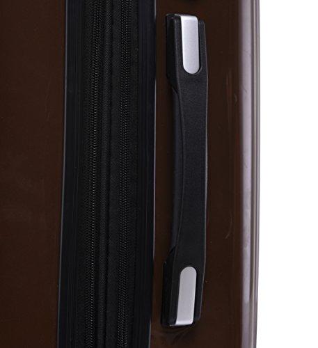 Münicase Münicase TSA-Schloß Koffer Reisekoffer Trolley Kofferset (Coffee, Großer Koffer (ca.76cm))