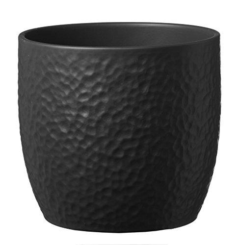 soendgen Céramique Pot, Boston, Argile, Anthracite, 14 x 14 x 13 cm