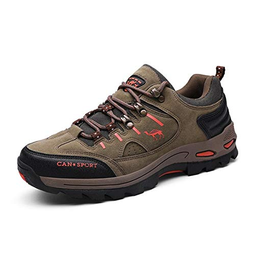 TTKK TENGKEJPN Men Hiking Shoes Autumn Winter Outdoor Brand Mens Sport Trekking Mountain Boots Waterproof Athletic Shoes (Color : Brown, Size : 41 M EU)