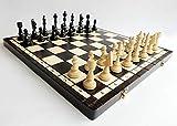 CHESS CLUB 47cm / 18in Juego de ajedrez de madera de torneo, juego de ajedrez clásico hecho a mano
