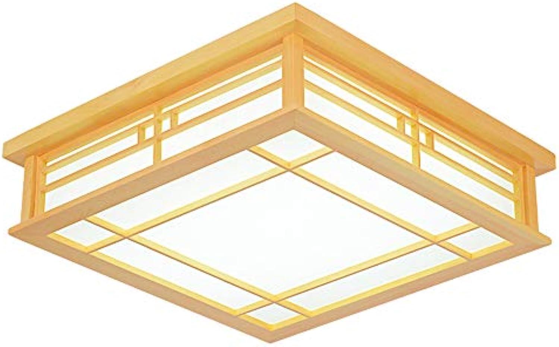 Geführter Deckenlampenquadratschlafzimmerwohnzimmerleuchterklotz Im Japanischen Stil,45  45  12Cm, 24W Weies Licht
