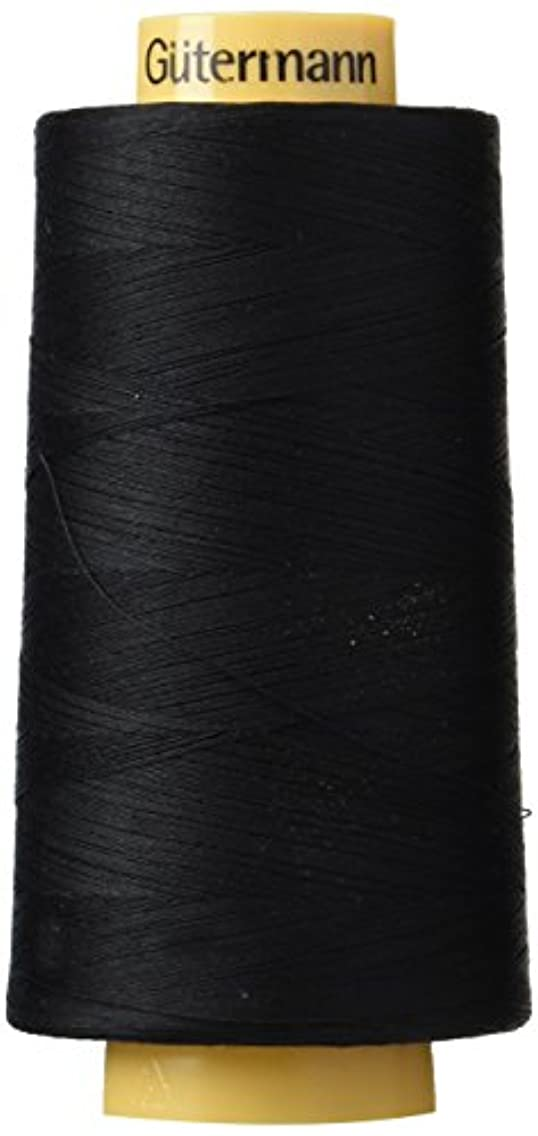 Gutermann Natural Cotton Thread Solids, 3281-Yard, Black