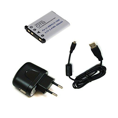 bg-akku24 Ladegerät, Akku und Ladekabel, Datenkabel, USB-Kabel für Fujifilm FinePix JX680, JX695, JX700, JX710, T350, T360, T400, T410, T500, T510, T550, T560
