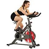 Sunny Health & Fitness Indoor Home Cycling Bike with Quiet Belt Drive,...