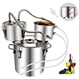 Holhuo 8 Gal Moonshine Still Spirits Kit Complete with Thumper Stainless Steel 25L Water A...