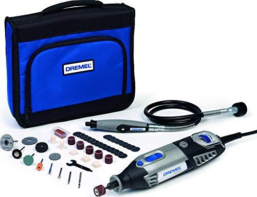 Dremel Platin Edition 4000 Multifunktionswerkzeug 175W, Set mit 1 Vorsatzgeräte, 45 Zubehörteilen, Variable Drehzahl 5.000-35.000 U/min zum Schneiden, Schnitzen, Bohren, Gravieren, Schleifen