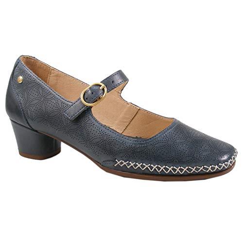Pikolinos W6R-5905 Gomera Schuhe Damen Pumps Spangenpumps, Schuhgröße:42 EU, Farbe:Blau