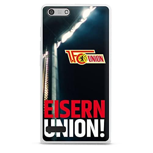 DeinDesign Silikon Hülle kompatibel mit Huawei Ascend P7 Mini Hülle weiß Handyhülle Fanartikel 1. FC Union Berlin Fußball