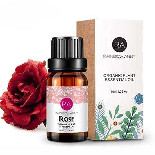Rose Essential Oil 100% Pure Organic Therapeutic Grade Rose Oil for Diffuser, Sleep, Perfume, Massage, Skin Care, Aromatherapy, Bath - 10ML