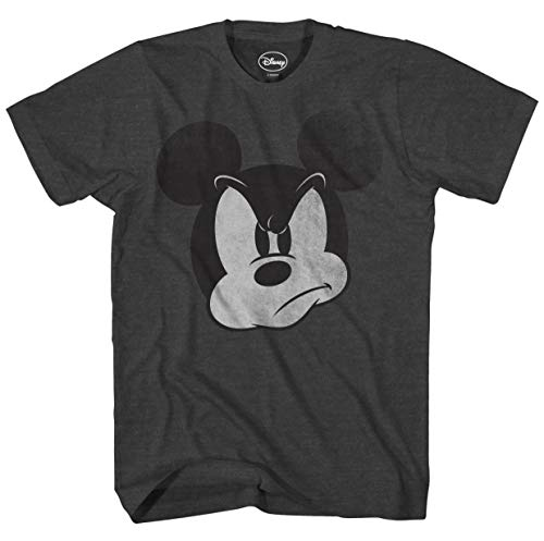 Disney Mad Mickey Mouse Adult Mens T-Shirt (XXXL, Heather Charcoal)