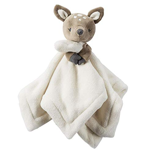 """McMushy 12"""" Fawn Baby Security Blanket snuggler for Baby Shower Newborn Child Comforter (Fawn)"""