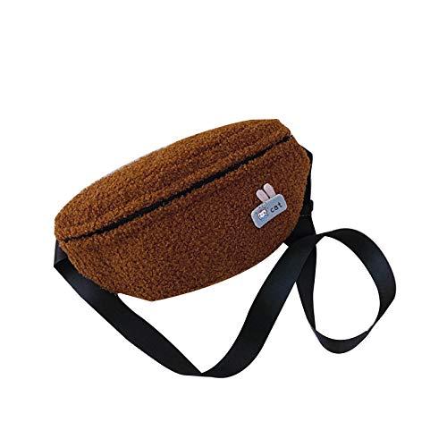 PING - Riñonera casual para mujer, diseño de cinturón de felpa para otoño e invierno, Bn,