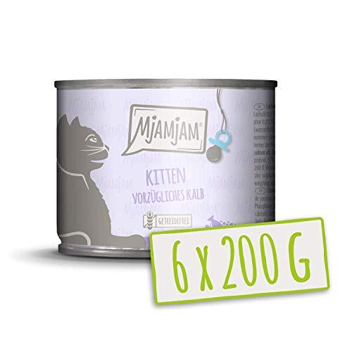 MjAMjAM Kitten vorzügliches Kalb mit Lachsöl 6x200 g, 1er Pack (1 x 1200 g)
