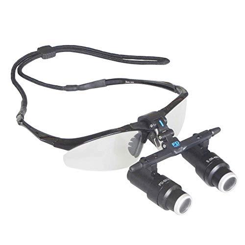 Médico Dental Quirúrgico Lupas, 4X 5X 6X Lupa Kepler Marco De Gafas Binocular Altas Lupas para El Cerebro Cardíaco Cirugía,6X