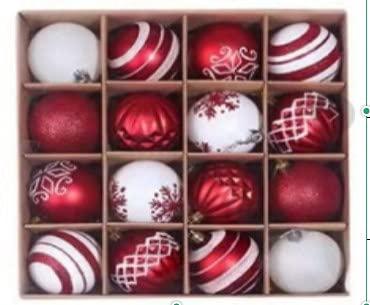 2 palline di Natale opache appositamente formate, 2 pitture opache, 2 palline bianche rosa 2 rosso rosa sfera 4 pittura bianca 2 rosso opaco 2 pittura rosso opaco