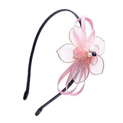 Femmes Lovely coiffure Hairband accessoires pour les cheveux fleur dentelle, Rose