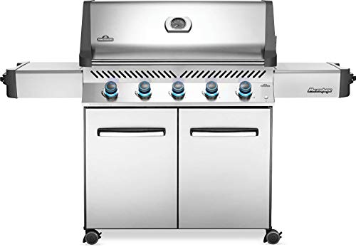 Napoleon Prestige 665 BBQ Grill, Stainless Steel, Natural Gas - P665NSS Premium Barbecue Gas Cart For Grilling Masters - Assembly Free Gas Grill Grills Natural UDS