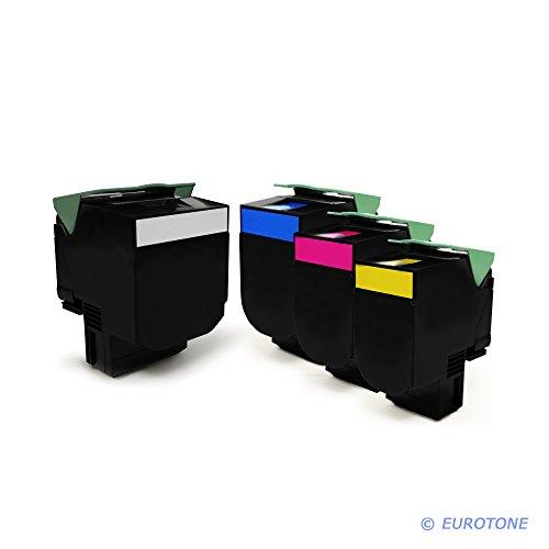 Eurotone Toner mit 50% mehr Leistung für CX310 CX410 CX510 ersetzen Lexmark 802HK 802HC 802HY 802HM im Bundle
