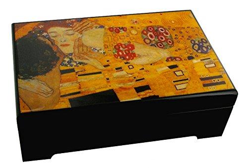 Caja de música para joyas / joyero musical de madera con reproducción de un cuadro famoso - Sueño de amor - Liebesträume (Franz Liszt)