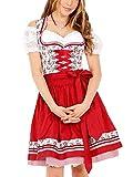 Krüger Damen Trachten Dirndl kurz, Modell: Silvana, über Knie, Art.-Nr. 046315-0-0009, 34, weiß