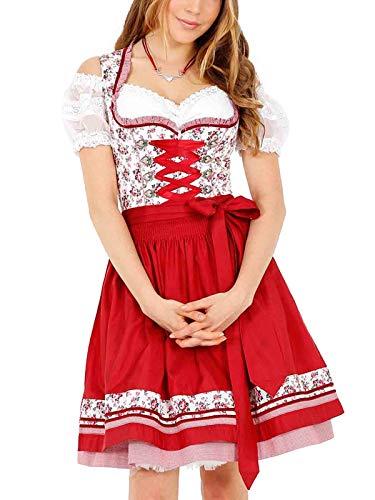 Krüger Damen Trachten Dirndl kurz, Modell: Silvana, über Knie, Art.-Nr. 046315-0-0009, 36, weiß