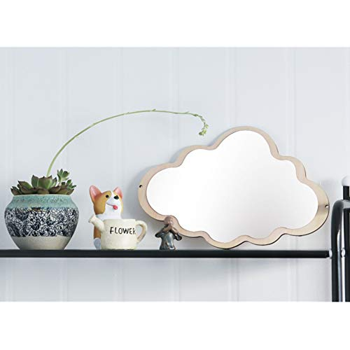 Nodic Kid Bedroom Nursery Decoration Cute Cloud Face Mirror Shatterproof Wood Decor Acrylic Mirror