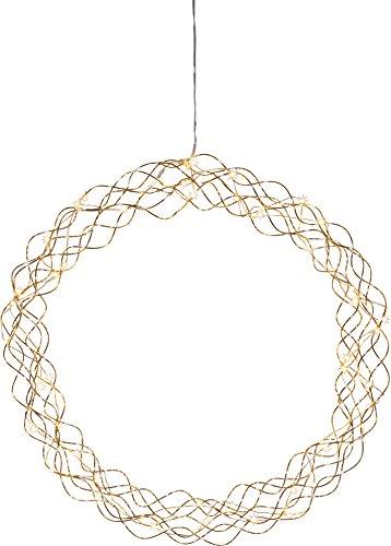 "Star 690-95 LED-Dekokranz\""Curly\"", circa 45 cm, Metall, Gold, 9 x 45 x 45 cm"