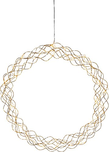 Star LED-Dekokranz Curly, ca.45 cm, Metall, Gold, 9 x 45 x 45 cm