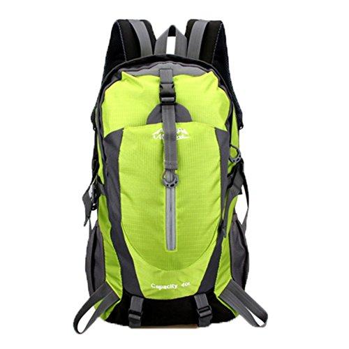 OHmais Unisexe Sac à dos Randonnée Alpinisme Imperméable Grande Contenance Escalade Trekking 40L en oxford Idéal pour voyage