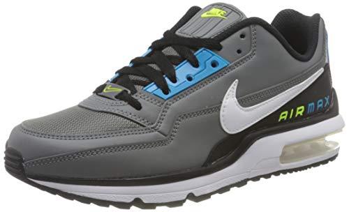 Nike Herren Air Max LTD 3 Sneaker, Smoke Grey/White-Black-Laser Blue-Illusion Green, 45 EU