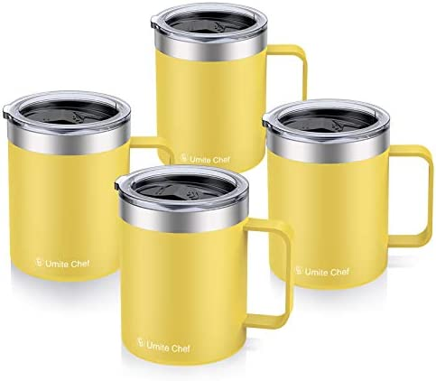 12oz Stainless Steel Insulated Coffee Mug with Handle Umite Chef Double Wall Vacuum Tumbler product image