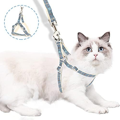 All--In Katzenleine Ausbruchsicher Katzengeschirr mit Leine Verstellbar Weich für Katzen und Hunde Welpgeschirr (M)