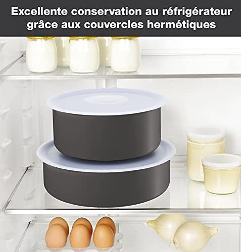 Tefal Ingenio Essential - Juego de 4 Sartenes, 3 Cazos + Mango extraíble: Sartenes de 22/26/28 cm + Wok 24 cm, Cazo de 16 cm, Cacerolas de 18/20 cm, 2 tapas y mangos, Thermospot, horno y lavavajillas
