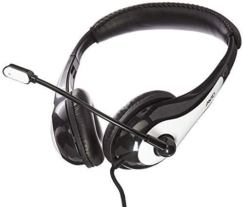 AVID Education 1EDU-AE36WH-ITE Headphone with OOM Microphone, Single Plug, White (FBA_AE-36WHITE)