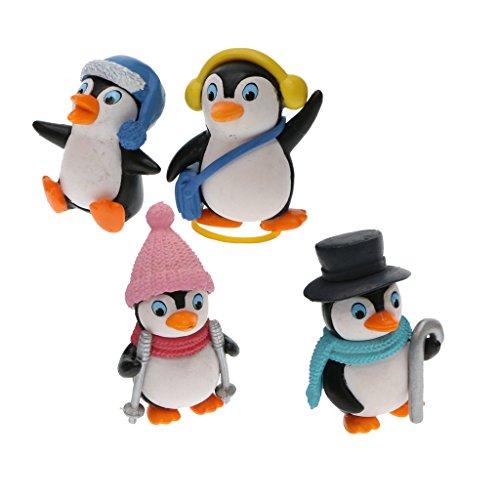 Sharplace 4pcs Mikro Landschaft Mini Pinguin Figuren Set
