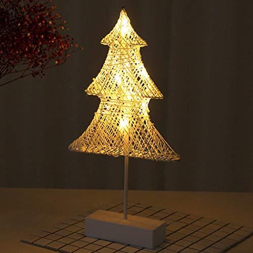 Nachtlampje in Scandinavische stijl, ideaal voor Kerstmis, dag, lantaarn, ledlamp, tafellamp, nachtlampje, cadeau voor dames en heren, rug kinderen (27 cm x 40 cm x 6 cm) nachtlampje C