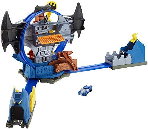 Hot Wheels City Batman Batcave Track Set, Multicolor