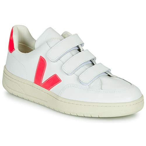 VEJA V-LOCK Sneakers dames Wit/Roze Lage sneakers
