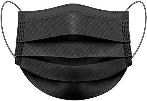 4 000 Masks ZAP Disposable Face Fees free Long Beach Mall Black Cover 3-Ply Facial Mask